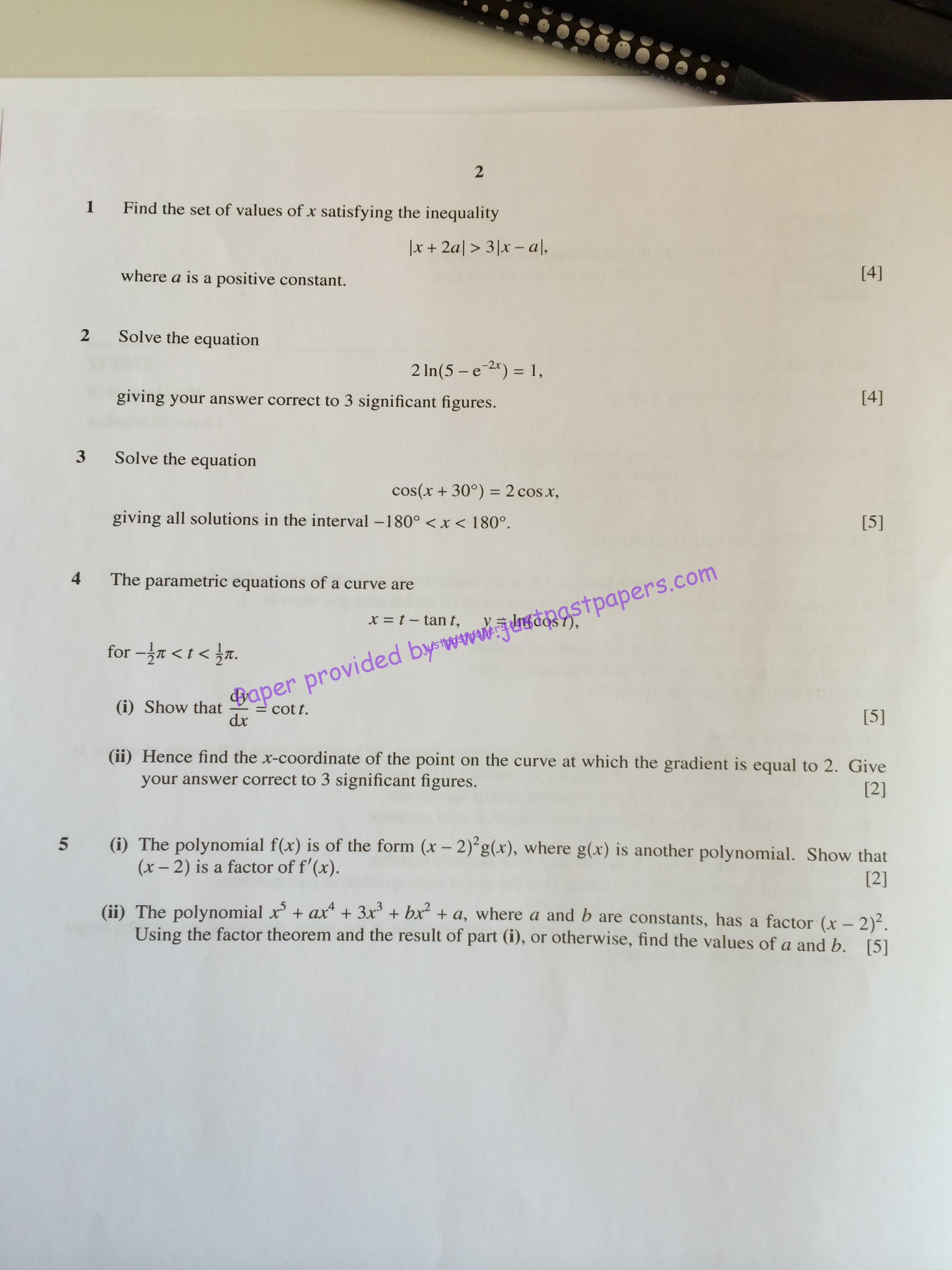 cpt question paper june 2016 pdf