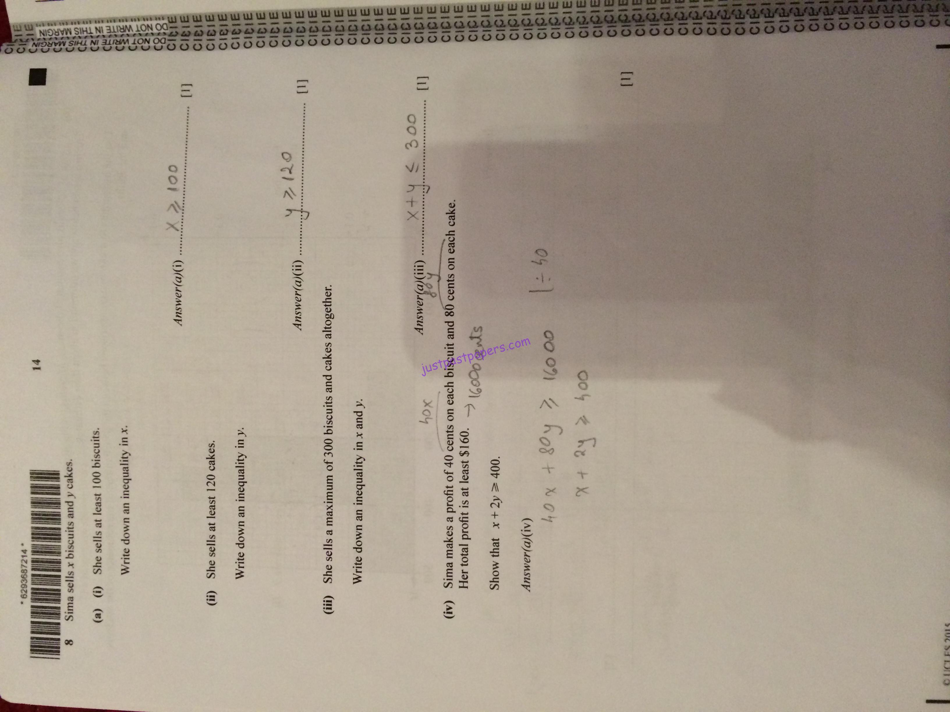 cie igcse economics past papers