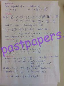 CIE – 9709 Pure Mathematics 1, AS Level, Paper 12, May/June 2016 – Solution 4-5