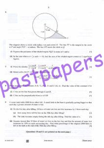 CIE – 9709 PURE MATHEMATICS 1 PAPER 12 , MAY/JUNE 2016 – Question Paper